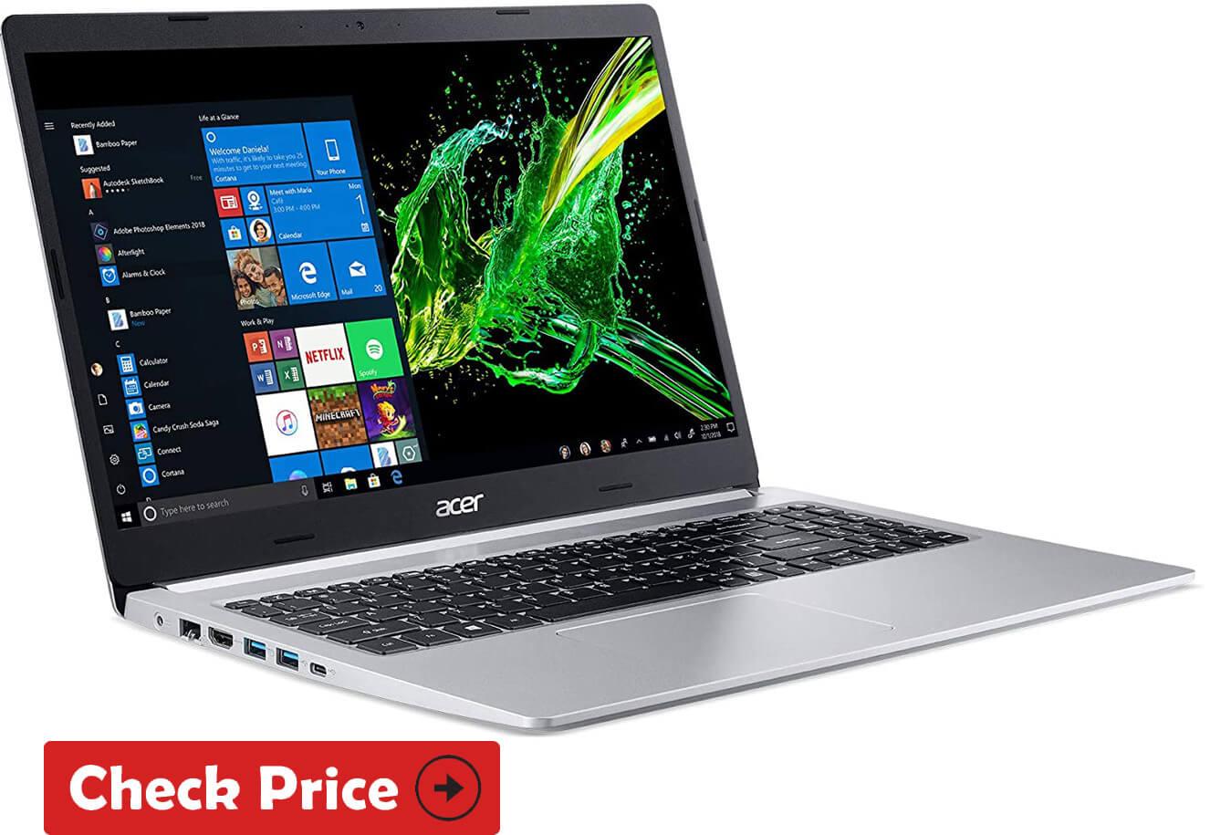 Acer Aspire 5 ssd laptop under 500 dollars